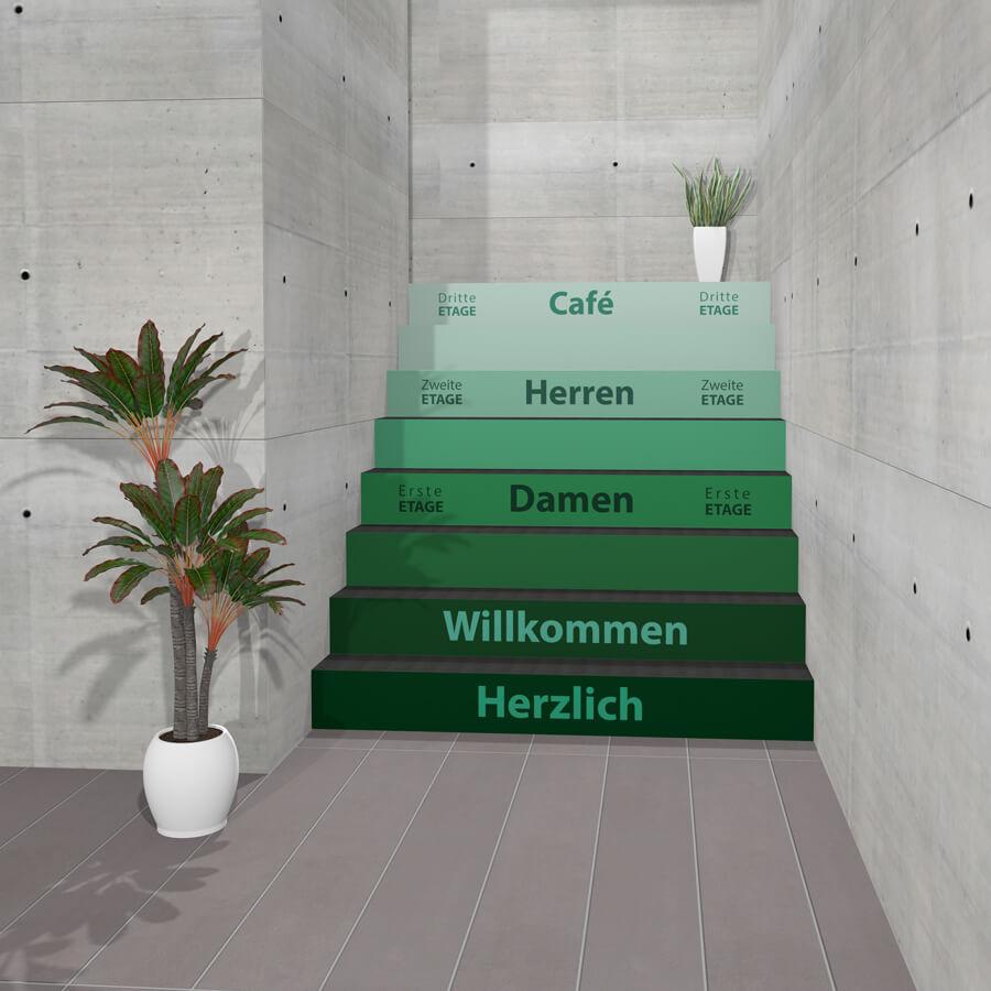 Treppen-Aufkleber